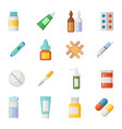icons set of medications drugs and pills vector image