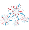 Abstract firework background vector image vector image