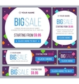 Big half price and one day sale banners vector image vector image