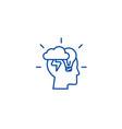 brainstorm head line icon concept brainstorm head vector image