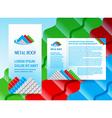brochure folder roof metal profile colored design vector image