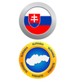 Button as a symbol SLOVAKIA vector image