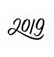 calligraphy for 2019 new year of the pig vector image vector image