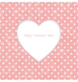 Card with heart shape on Polka dot background vector image