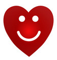 cartoon smiling female heart on white background vector image