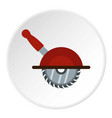 circular saw icon circle vector image vector image