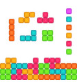 colorful brick pieces for game design vector image vector image