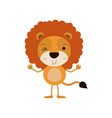 colorful caricature of cute lion wink eye vector image vector image