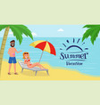 concept of summer vacation vector image