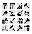 construction and repair icons vector image vector image