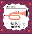 cornet instrument to music festival celebration vector image vector image