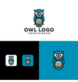 creative owl logo design template vector image