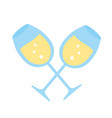 crossed champagne cups vector image