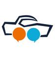 dealer think logo design template vector image vector image