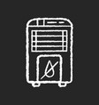 dehumidifier chalk white icon on black background vector image vector image