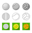 design of sport and ball logo collection vector image vector image
