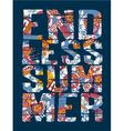 Endless Summer vector image