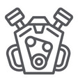 engine line icon auto and part motor sign vector image