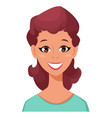 face expression of a woman - smiling female vector image