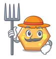 Farmer hexagon character cartoon style