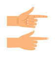 finger pointing gesture vector image