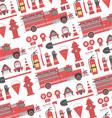 Fireman seamless pattern vector image vector image