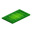 flat isometric view rugby field abstract vector image vector image