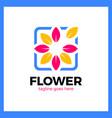 flower frame logo vector image