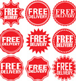 Free delivery signs set free delivery sticker set vector image vector image