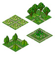 garden isometric asset for design landscape in vector image vector image