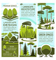 green landscape design banners vector image