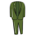 green suit on white background vector image vector image
