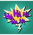 haha comic bubble retro text vector image