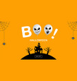 halloween banner ghost boo scary spooky air vector image vector image