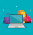 handbags with laptop and backpack to sale price vector image vector image
