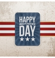 Happy Independence Day patriotic Emblem vector image vector image