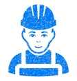 Happy Mechanic Grainy Texture Icon vector image vector image
