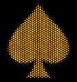 hexagon halftone peaks suit icon vector image vector image