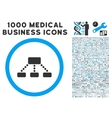 Hierarchy Icon with 1000 Medical Business Symbols vector image vector image