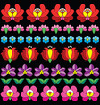 hungarian folk art seamless floral pattern vector image