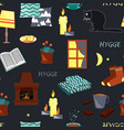 hygge seamless pattern vector image vector image