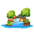 isolated fox in island vector image