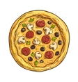 Italian pizza sketch for pizzeria and cafe design vector image vector image