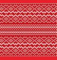 knit geometric ornament seamless pattern vector image