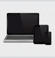 laptop tablet pc computer and mobile phone vector image vector image