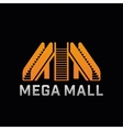 Logo of Mega Mall shop Template logo of offline vector image