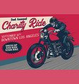old style motorcycle event poster vector image