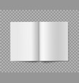 open book realistic blank empty booklet brochure vector image vector image
