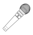 outline stage microphone vector image vector image