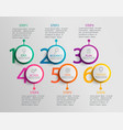 paper infographic template with six circle options vector image vector image